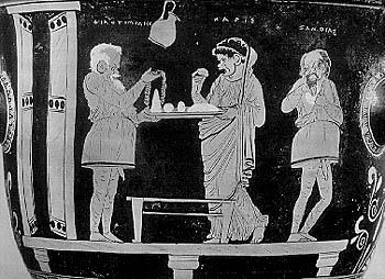 Image of: Ancient Greek Comic Scene On Apulian Bell Krater In The Museo Civico Archeologico Milan Pinterest Comedy