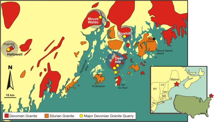 Geologic Map Of Maine.Deer Isle Granite
